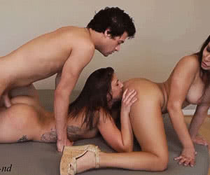 Threesome animated GIF