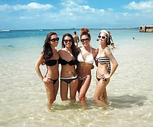 Group Girls In Bikini